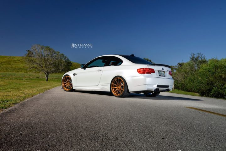 Strasse Wheels - Mineral White BMW E92 M3 - SV5 Deep Concave Monoblock 16