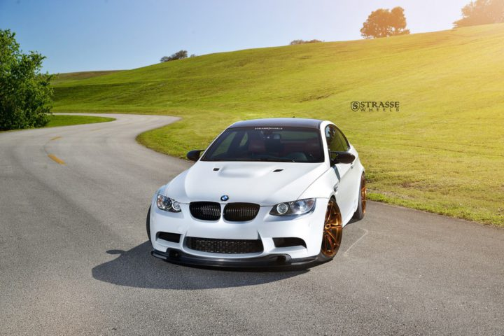 Strasse Wheels - Mineral White BMW E92 M3 - SV5 Deep Concave Monoblock 5