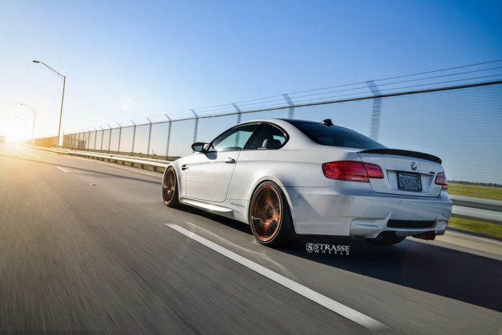 Strasse Wheels - Mineral White BMW E92 M3 - SV5 Deep Concave Monoblock 9