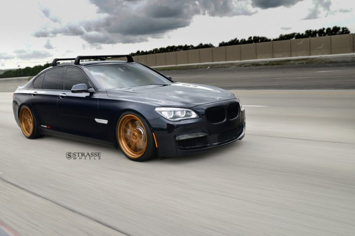 "Strasse Wheels - BMW F01 750 - Gloss Brushed Bronze 21"" SV1 Deep Concave FS Wheels 2"
