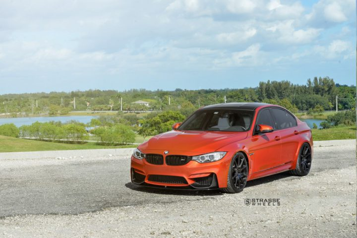 Strasse Wheels Sakhir Orange BMW M3 2