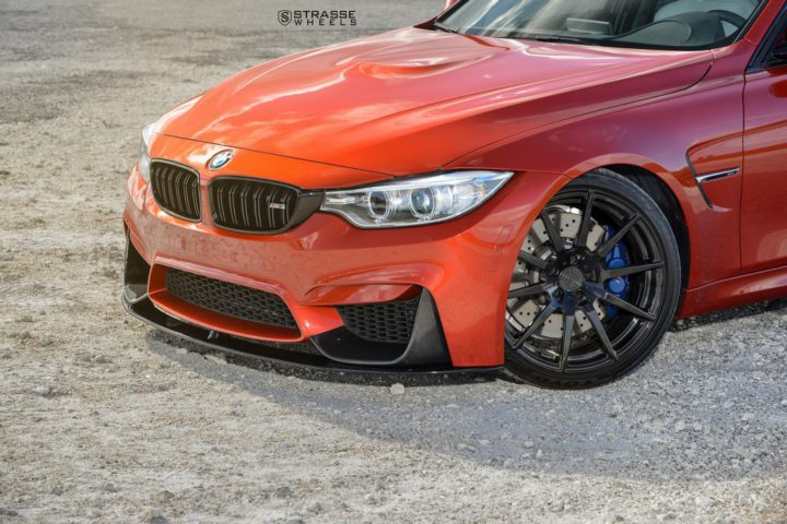 Strasse Wheels Sakhir Orange BMW M3 4