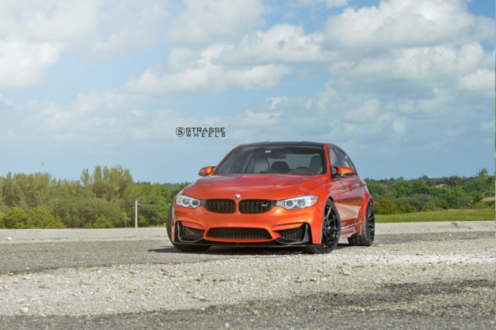 Strasse Wheels Sakhir Orange BMW M3 6
