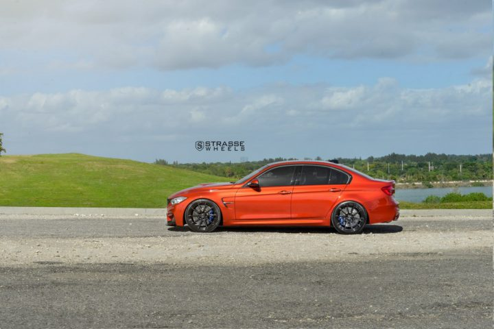 Strasse Wheels Sakhir Orange BMW M3 8